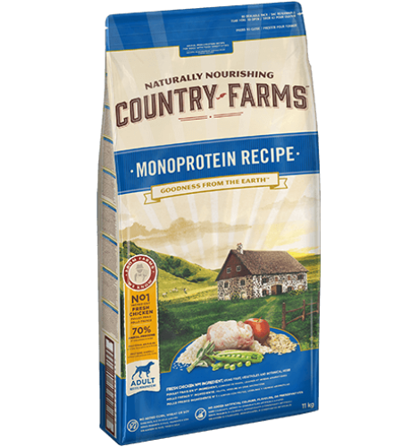 07613036703482_C1L1_Country-Farms-MONOPROTEIN-RECIPE-Chicken-11kg_43898558