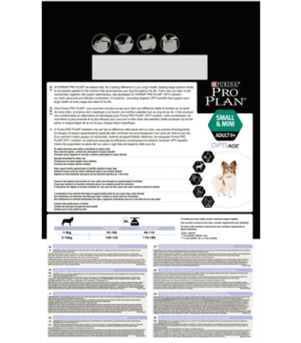 PURINA® PRO PLAN® Small & Mini Adult 9+ with OPTIAGE® Rich in chicken Back