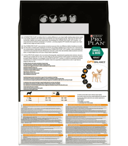PURINA® PRO PLAN® Small & Mini Adult with OPTIBALANCE Rich in chicken Back