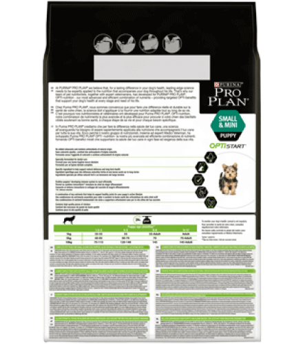 PURINA® PRO PLAN® Small & Mini Puppy with OPTISTART® Rich in chicken Back